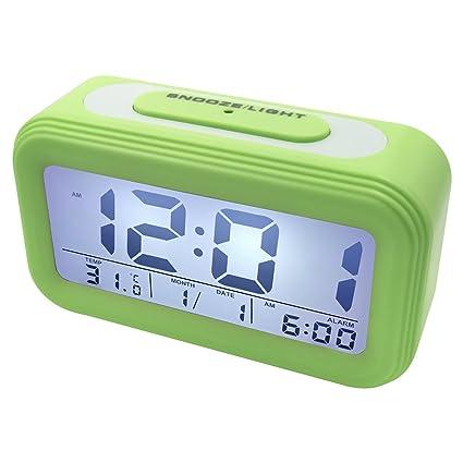 eb47600d8bdad1 EASEHOME Sveglia Digitale, Sveglie da Comodino Elettronica Grande LCD  Display Data Temperatura Orologio Batteria Funzione Snooze Luce Notturna  Allarme Forte ...