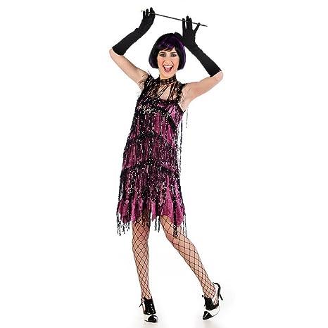 87ea68e8687d Vestito da charleston - costume da donna per travestimento - stile anni  20  - carnevale