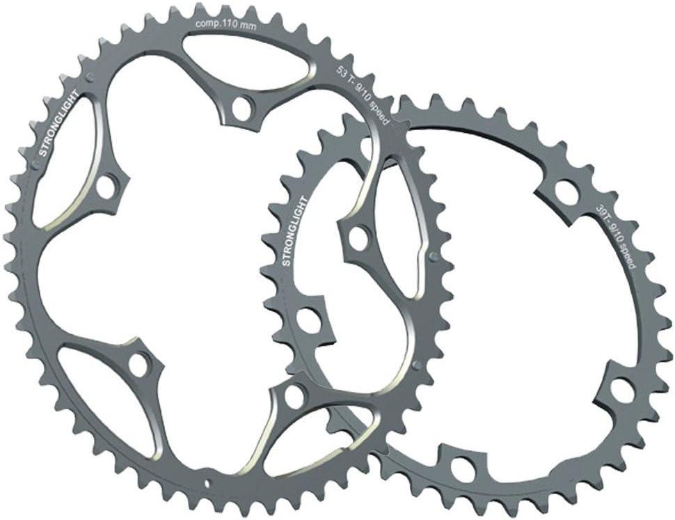 Stronglight Vélo Chaîne Anneau Dural 5083 130 mm BCD Shimano 9 10 Vitesse 53 T Noir
