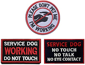 """3/"""" Round Service Dog Patch Iron on Embroidered patches free us shipping"""