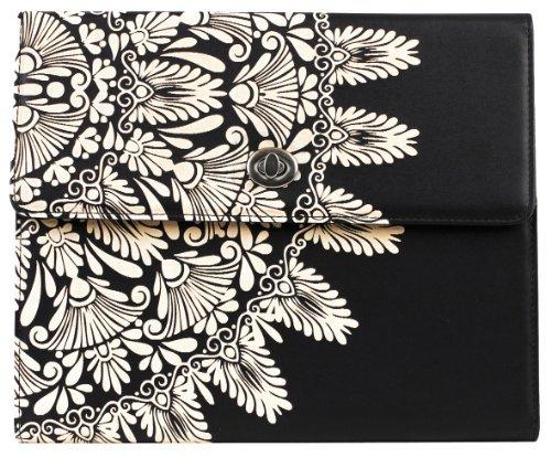 iPad Air 5世代のための統合されたスタンド付きの贅沢なモンスーンスタイルのキャリングケース - 親ASIN黒 [並行輸入品]   B07LFF9325