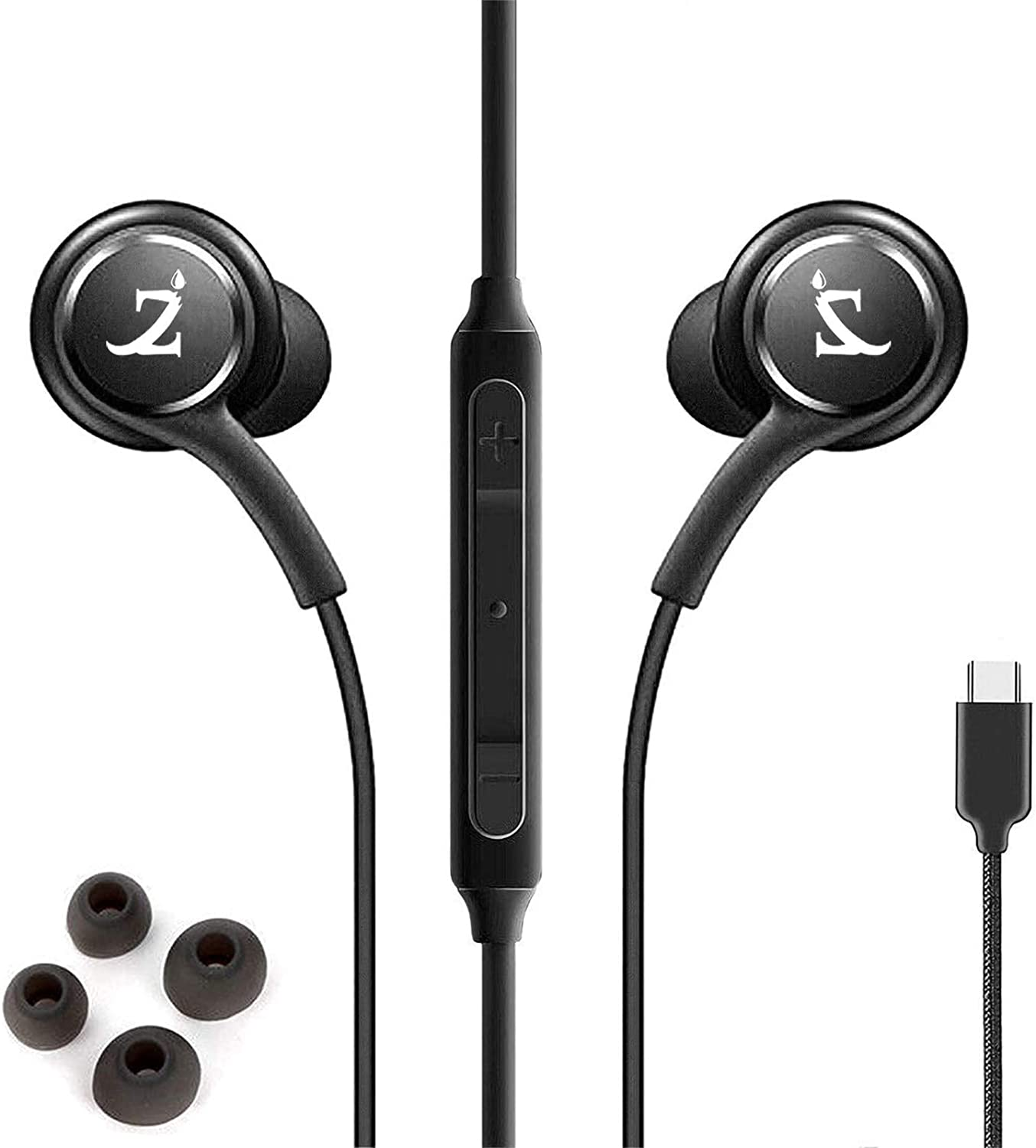 ZAMZAM PRO Stereo Headphones Works for Apple iPhone 8 with Hands-Free Built-in Microphone Buttons + Crisp Digital Titanium Clear Audio! (3.5mm, 1/8 inch)