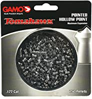 Gamo 6322544CP-C54 Tomahawk Pointed Hollow Point Pellets .177 Caliber Tins of 750-Blister Pack, Black