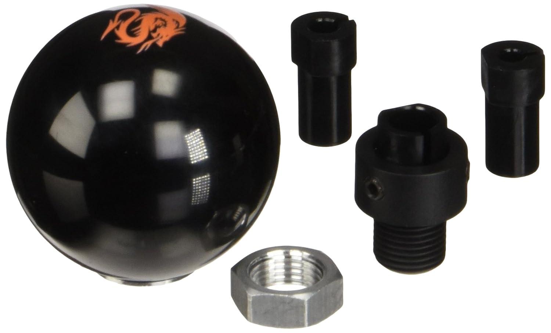 American Shifter 103221 Black Shift Knob with M16 x 1.5 Insert Orange Dragon
