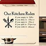 Our Kitchen Rules Carved Wall Sticker Living Room Home Decor DIY Removable Sticker For Kitchen