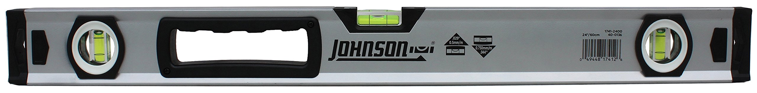 Johnson Level & Tool 1741-2400 Aluminum Box Level, 24''