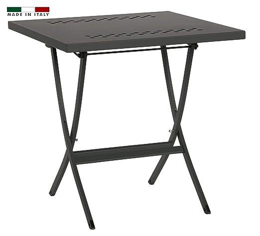 RD ITALIA - Mesa Plegable de 80 x 80 cm, de Metal, Color Antracita ...