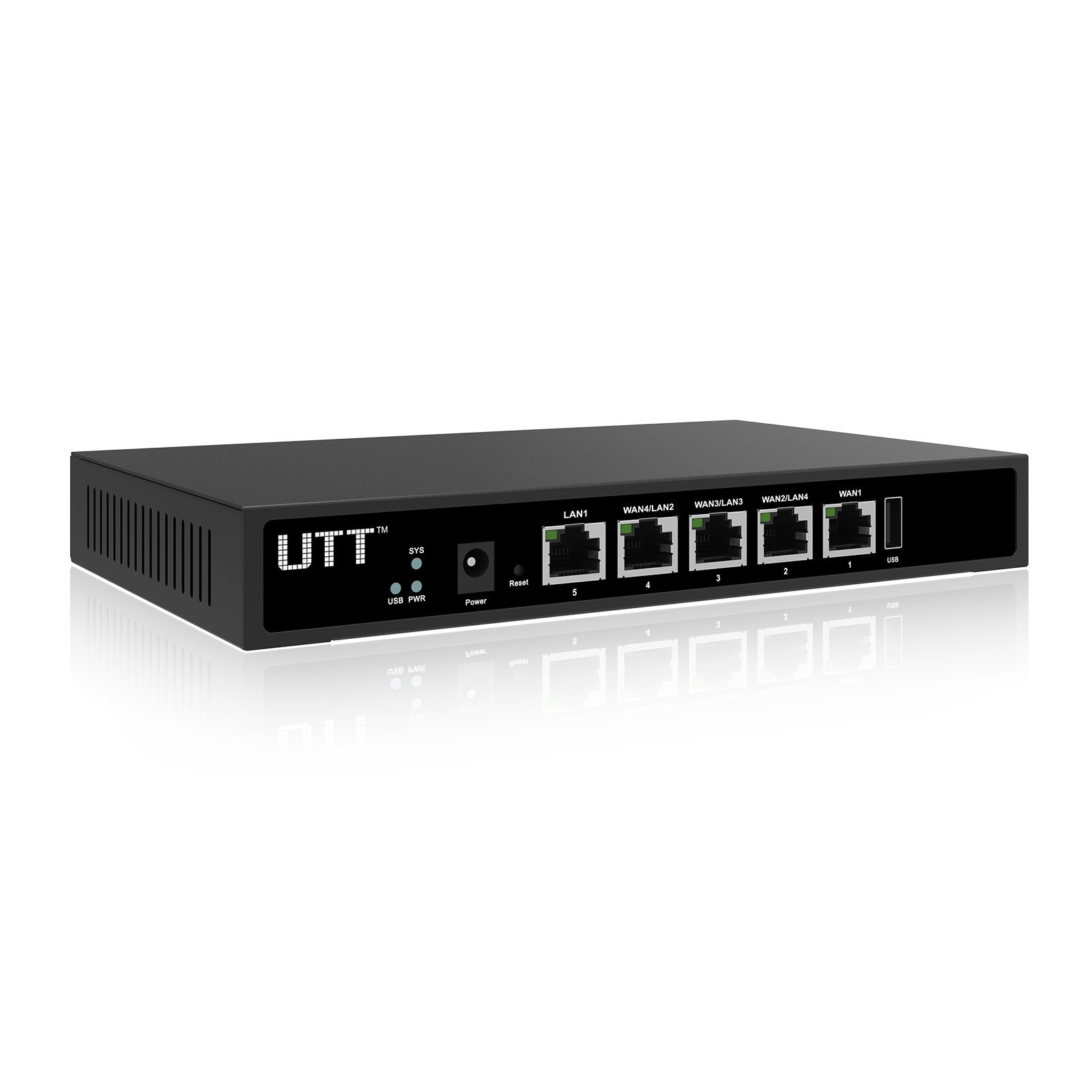 UTT ER840G 4 Port Internet WAN Router with 4 Gigabit WAN Ports – Load Balance & Failover – VPN – USB – access control – for business