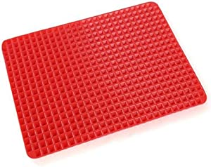 Genericb Pyramid Silicone Baking Mat, Healthy Cooking Sheet, Food Baking Molds, Non-Stick Mat Baking Sheet for Oven and Microwave (Red)