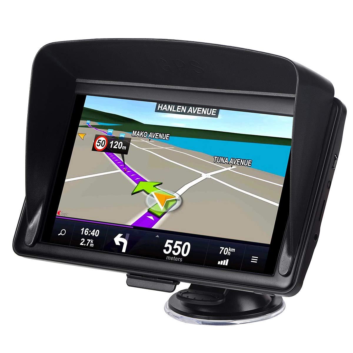 GPS for Car 7 inches 8GB Lifetime Map Update Spoken Turn-to-turn Navigation System for Cars Vehicle GPS Navigator SAT NAV