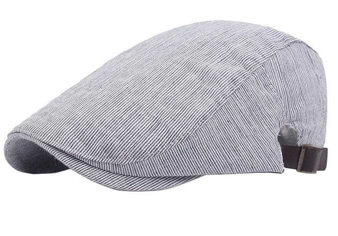 JUNGEN Sombrero unisex Gorra de pato de moda a rayas de estilo Sombrero de boina  gorro c26d6f36881