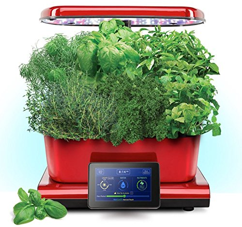 (Harvest Touch by Aerogarden Red Stainless Indoor Garden with Gourmet Herb Kit (See other available colors and options))