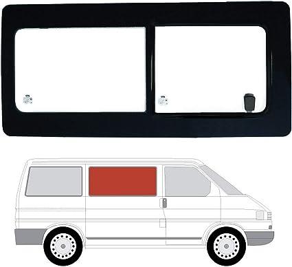 Mano derecha ventana de apertura transparente para puerta corredera derecha panel lateral opuesta para VW Transporter T4 (90 – 03): Amazon.es: Coche y moto