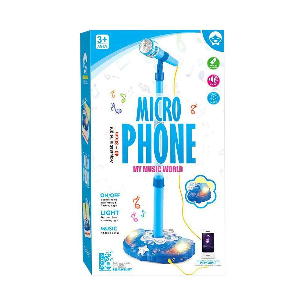 Kids Karaoke Microphone Musical Toys Touch Music Microphones Childhood Enlightenment Children Adjustable Stand Early Education Single Singing Machine with Flashing Stage Lighting and Pedals by sweetyhomes (Image #3)