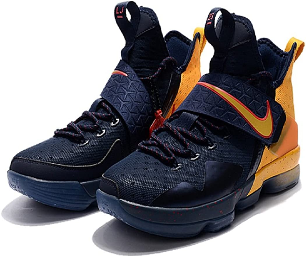 Bashy Fashion 2018 Nike Lebron James 14 Blue Yellow Nba Basketball Sneakers Amazon Ca Shoes Handbags