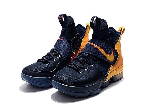 reputable site 1c3eb 67a54 2018 Nike ,Lebron James  14  Blue Yellow  NBA  Basketball Sneakers