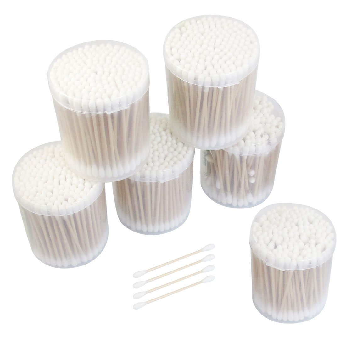 Uxcell Wooden Stick Double Head Disposable Cotton Swabs Buds, 0.67 Pound Dragonmarts Co. Ltd. / Uxcell a12092100ux0088