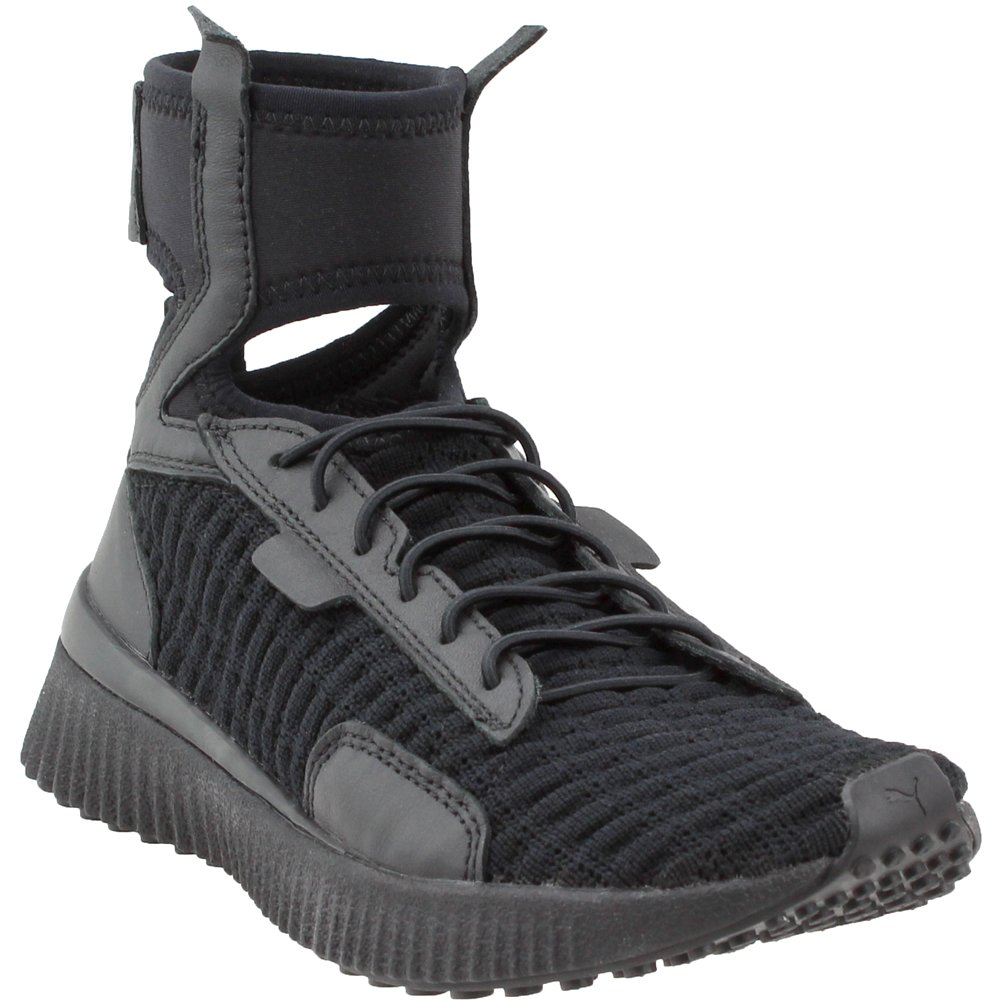PUMA Women's Fenty Trainer Mid Black White 9.5 B US