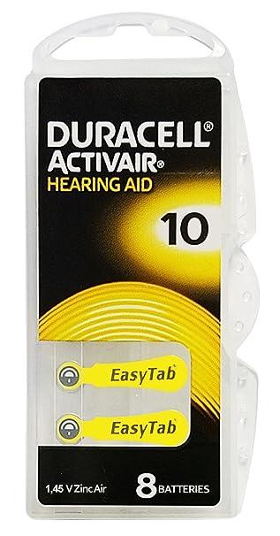 Amazon.com: Pilas para dispositivo auditivo Duracell ...