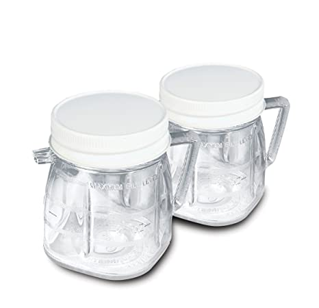 Amazon.com: Oster 1-cup Mini Blend Jar Set de 2: Kitchen ...