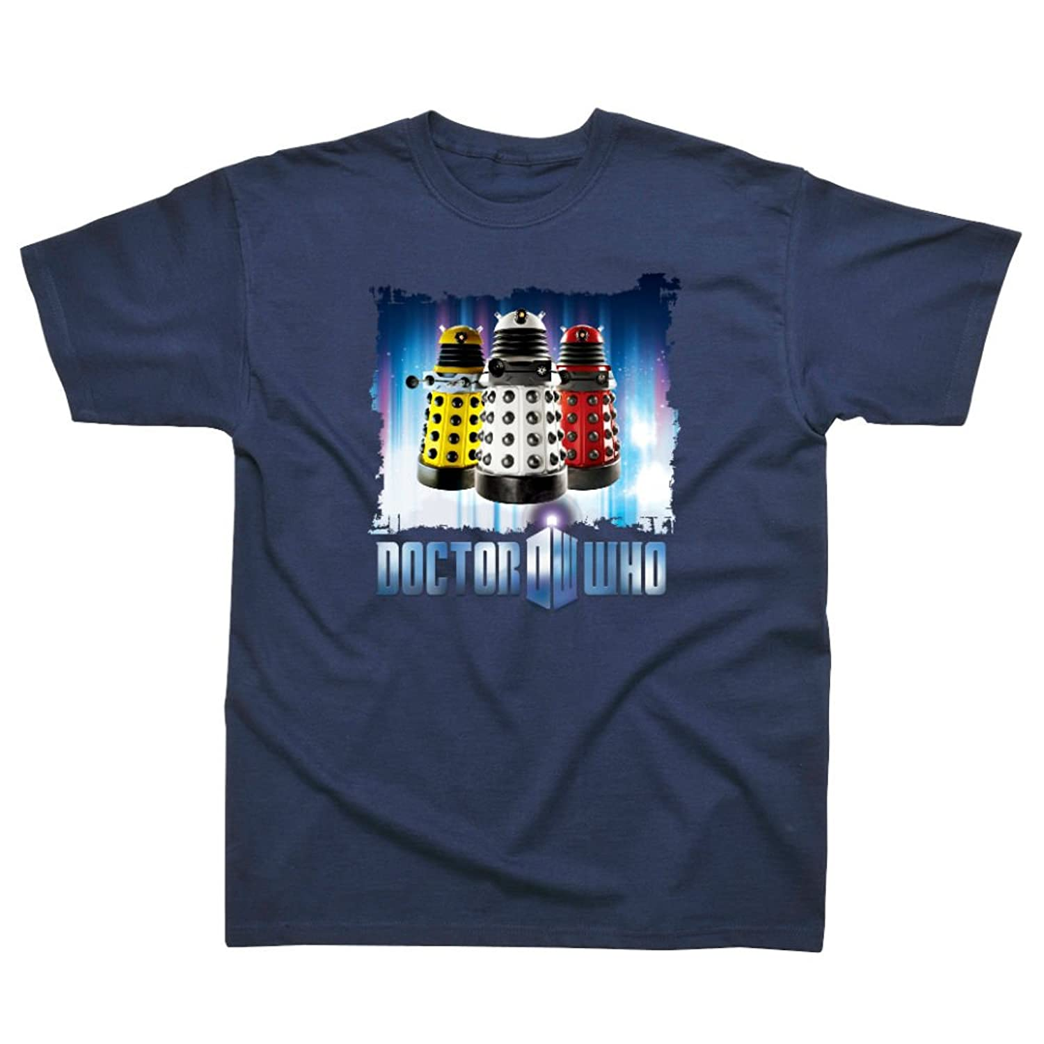 Dr Who Licensed Printed T shirt Navy - Daleks