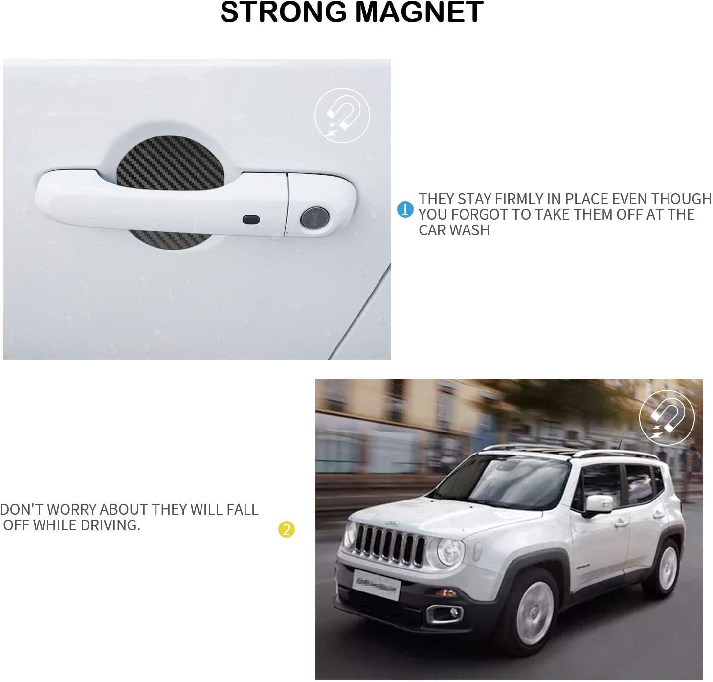 Mling Auto Magnetisch Türgriffmulde Schutz Kratzfest Türgriffmulde Abdeckung 4 Stück Kompatibel Für Renegade 2015 2020 Schwarz Auto