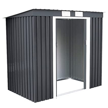 Goplus 4u0027 X 7u0027 Outdoor Storage Shed Garden Sliding Door Outside Tool House (