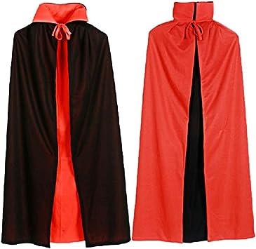Mantello Vampiro Halloween Costume Lungo Nero Adulto Cape Dracula Costume