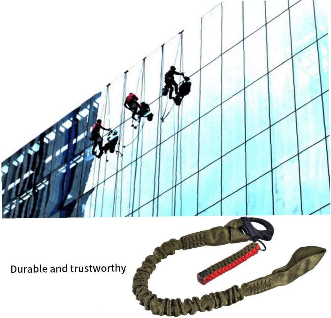 WFIT Tether Sicurezza Fettuccia Elastica Quick Release Laccio per Sport Esterni Airsoft Escursionismo Army Green