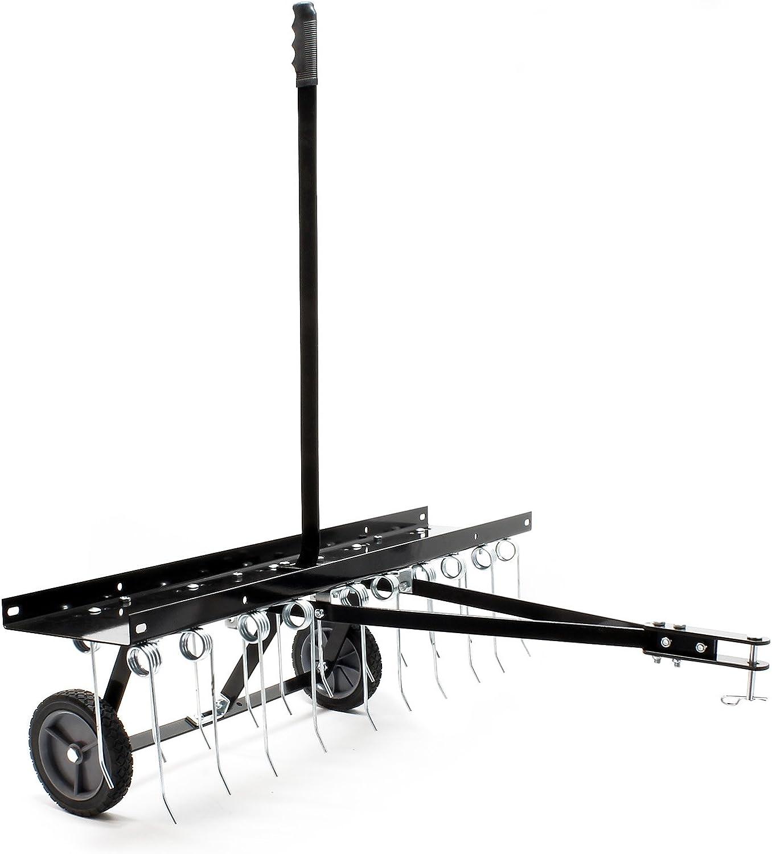 WilTec Escarificador de césped Entmooser 100cm para segadoras con Operador abordo Tractor de césped