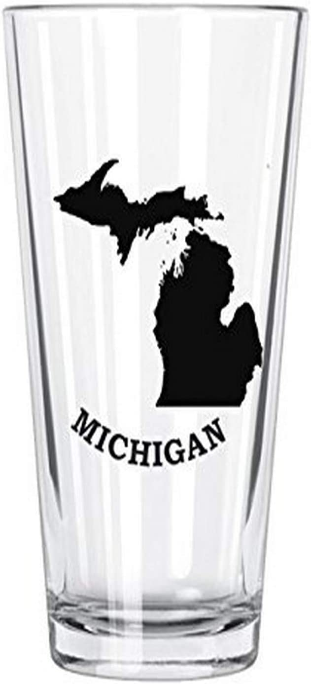 Corkology Michigan Pint Glass, Clear
