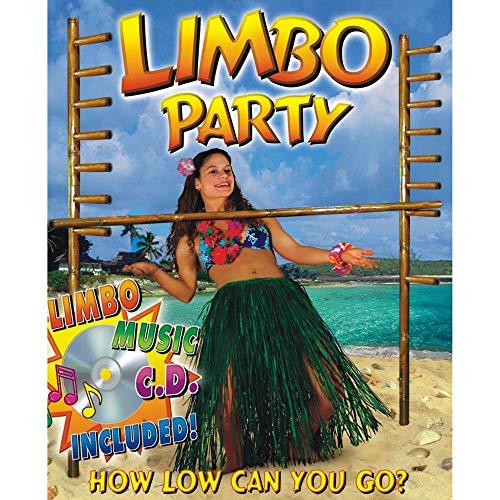 Limbo Party Kit - Beistle 50839 Limbo Kit Party Supplies, Multicolored