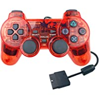 ForBEST PS2 Controller Wired Controller, Double Shock Double Vibration Motor Gamepad PS2 Controller for Sony Playstation…