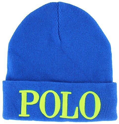 Polo Ralph Lauren Womens Unisex Cashmere Knit Beanie Hat Blue (Polo Ralph Lauren Womens Hat)