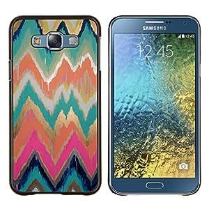EJOOY---Cubierta de la caja de protección para la piel dura ** Samsung Galaxy E7 E700 ** --Paint modelo del oro Rosa de la acuarela