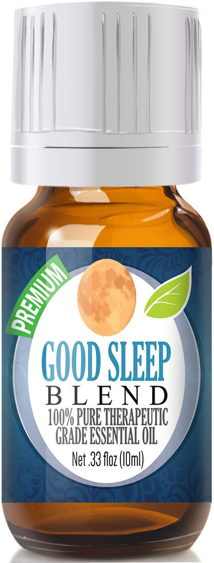 Good Sleep at Night Essential Oil - 100% Pure, Best Therapeutic Grade - 10ml - Includes Clary Sage, Copaiba and Lavender essential oils ESSENTIAL OILS – THE BEST PICKS FOR A GOOD HEALTH AND SLEEP HELP 61MTU0gRfDL