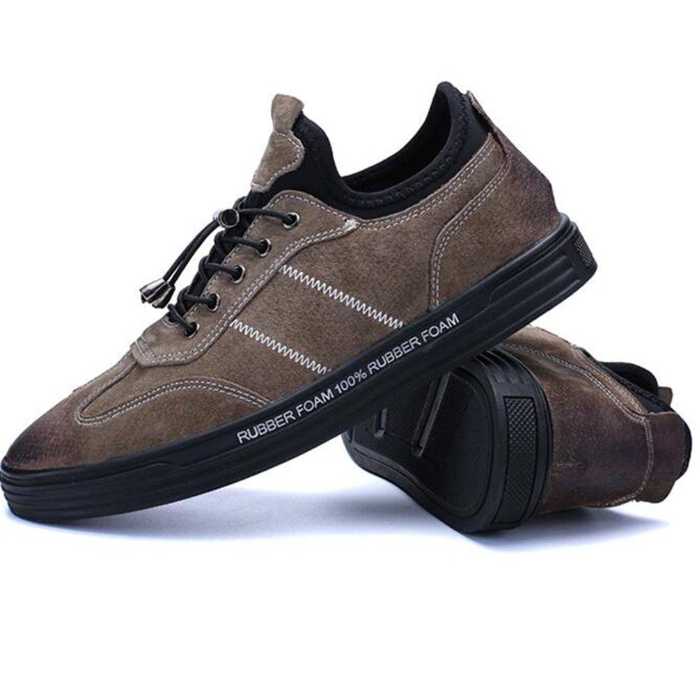 SUN Herren Trends Winter koreanische Version des Trends Herren Sport Schuhe Jugend Platte Schuhe schwarz Khaki (Farbe : 1, größe : EU40/UK7/CN41) 1 7c1667