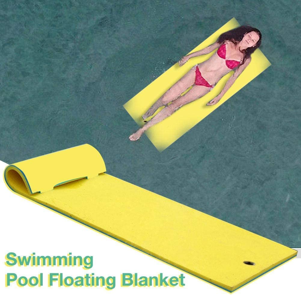 Floating Mat for Pools Lakes or Beaches Floating Water Mat,3 Layer Tear-Resistant XPE Foam,71x 24Large Float Pad,for Water Recreation and Relaxation