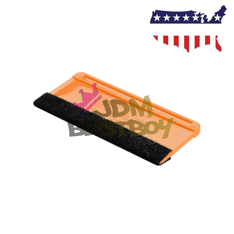 JDMBESTBOY 10PCS Soft Vinyl Wrap Tool Mini Window Tint Film Installing Squeegee Film Applicator Scraper Decals with Black Fabric Felt