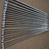 WINOMO 11 paires de 36cm en acier inoxydable droites simples Pointue Aiguilles à tricoter Crochet - 2.0mm à 8.0mm (Silver)