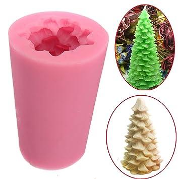Moldes de silicona 3D para velas de árbol de Navidad de TOPWA, moldes de jabón