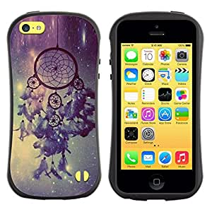 """Hypernova Slim Fit Dual Barniz Protector Caso Case Funda Para Apple iPhone 5C [Colector ideal Estrellas Cielo luz de la noche""""]"""