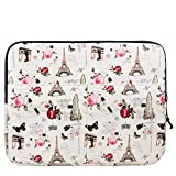 XeYOU 13.3 Inch Laptop Sleeve Bag Cover Case For all 13.3-inch Laptop Computers - Macbook Pro 13'' / Macbook Air 13''/ Macbook Pro Retina Display 13'' (Beige-Eiffel Tower)