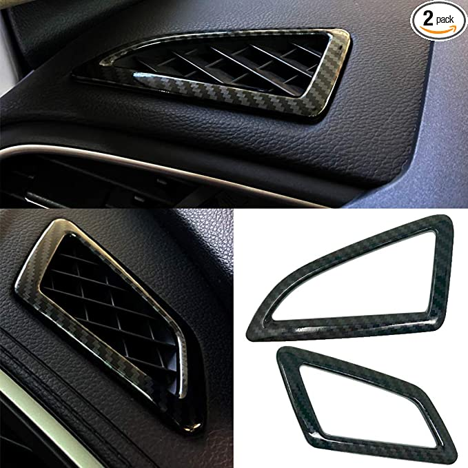 LANZMYAN Air Vent Wind Outlet Cover Trim Carbon Fiber Dashboard Wind Outlet Sticker for 10th Gen Honda Civic 2016 2017 2018 2019 2020