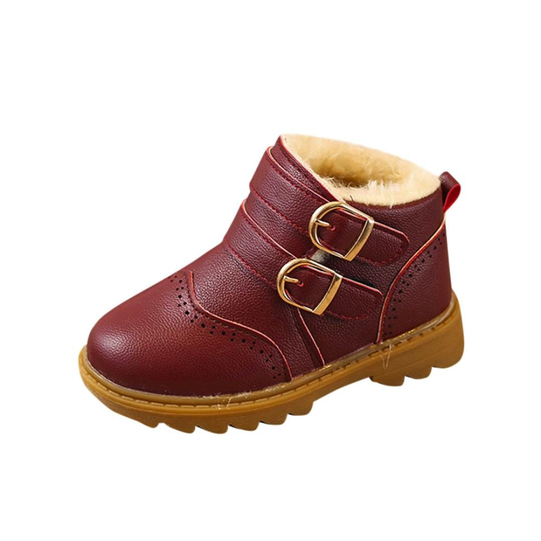 Princer Fashion Baby Martin Sneaker, for 1-6 Years Old Kids, Winter Boy Girl Child Boots Baby Thick Warm Boot Toddler Baby Casual Sneakers