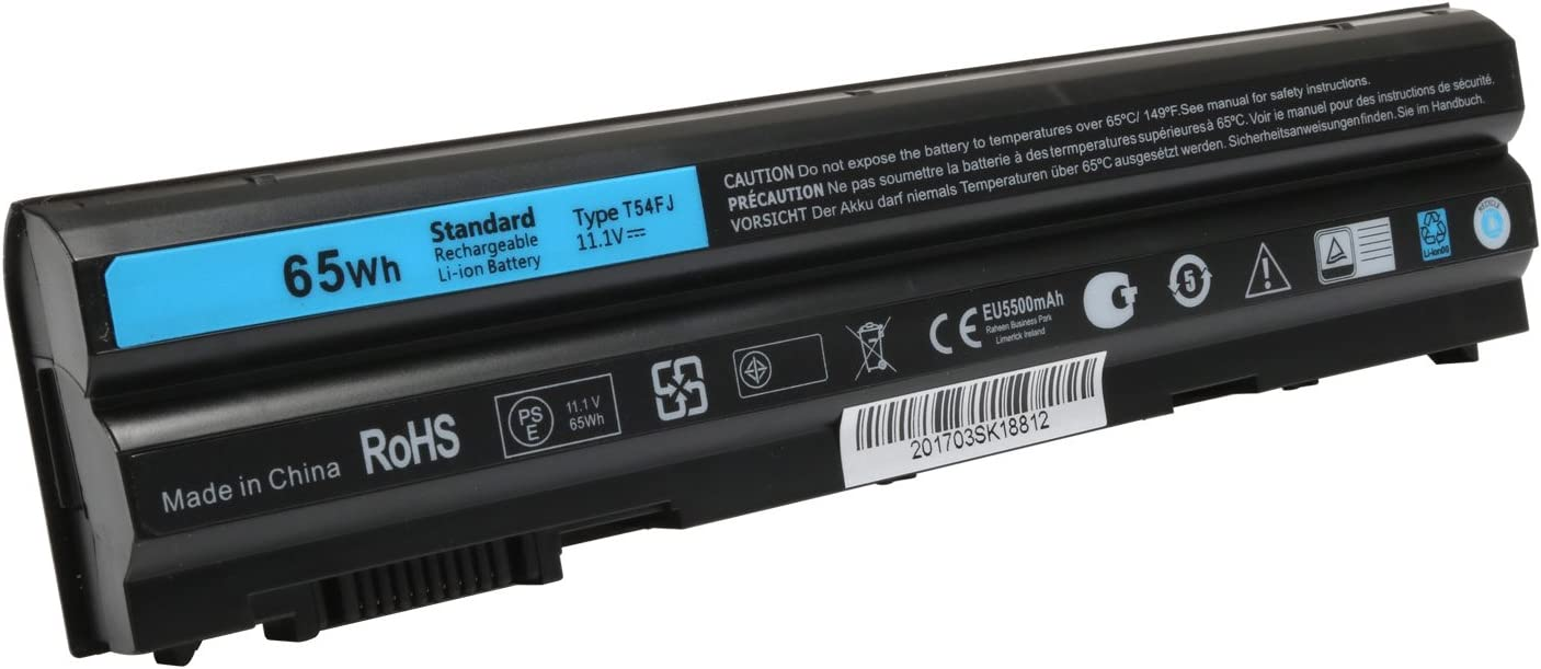 Tinkon 65Wh T54FJ E6420 Laptop Battery Replacement for Dell Latitude E6530 E6520 E5420 E5520 Inspiron 14R 15R 17R 15R-5520 15R-SE-7520 14R-5420 17R-4720