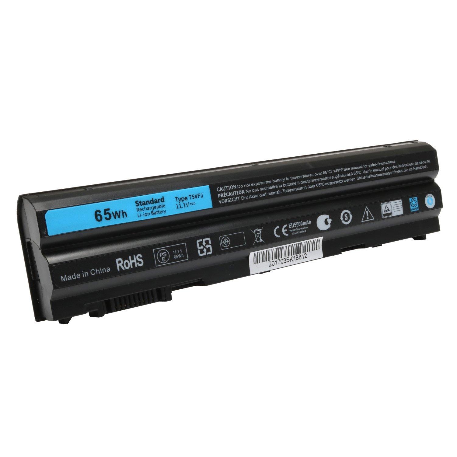 Bateria 65Wh T54FJ E6420 para Dell Latitude E6530 E6520 E5420 E5520 Inspiron 14R 15R 17R 15R-5520 15R-SE-7520 14R-5420 1