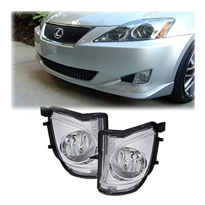 Fog Lights DRL Lamps For Lexus IS250 IS350 2006 2007 2008 2009 2010 Clear White/Yellow (White): Automotive
