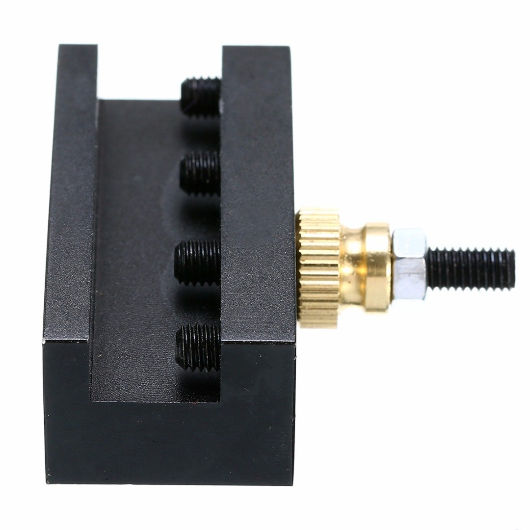 SODIAL 1Pc Turning Facing Holder Lathe Quick Change Tool Post Holder for Ccmt Tcmt Milling Cutting Inserts