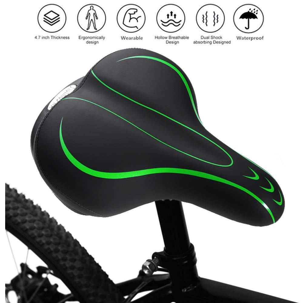 Oversize Air Pump Design Bicycle Seat Saddle Replacement Bicycle Accessories Universal Waterproof Gel Bike Saddle Road Bicycle Mountain Bike Seat for Men Cammate Bike Saddle Seat